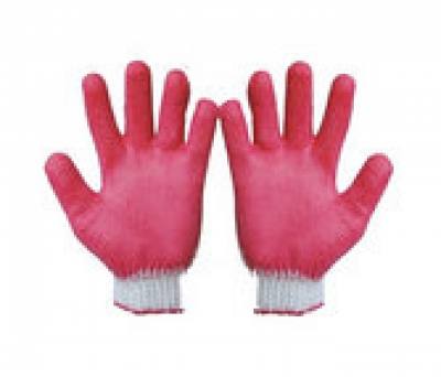 Găng tay sợi kim 7 phủ cao su đỏ 40 gam