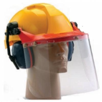 Nón bảo hộ lao động Proguard có kính che mặt và chụp tai