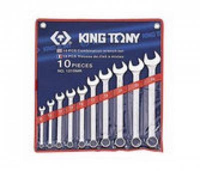 Bộ cờ lê đầu tròng, đầu mở 10 chiếc 8-24mm Kingtony 1210MR