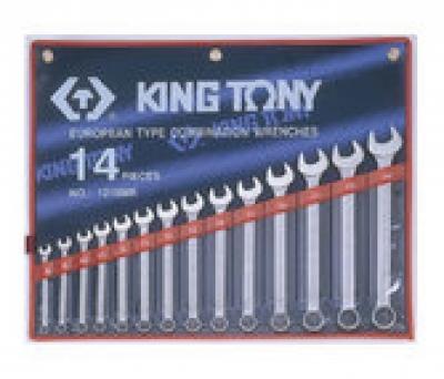 Bộ cờ lê đầu tròng, đầu mở 14 chiếc 8-24mm Kingtony 1215MR