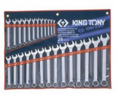 Bộ cờ lê đầu tròng, đầu mở 26 chiếc 6-32mm Kingtony 1226MR