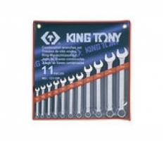 """Bộ cờ lê đầu tròng, đầu mở 11 chiếc 1/4"""" - 15/16"""" Kingtony 1211SR"""