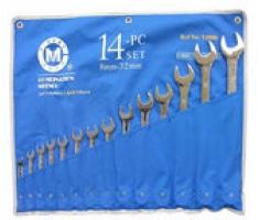 Bộ cờ lê đầu tròng, đầu mở 14 chiếc 8-32mm C-Mart CT0006