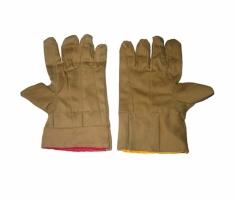 Găng tay bảo hộ vải bạt kaki chéo 2 lớp