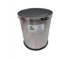 Thùng rác inox tròn nắp lật A36-H
