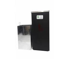 Thùng rác inox vuông nắp lật A34-GB