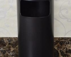 Thùng rác inox tròn có gạt tàn A35-AD