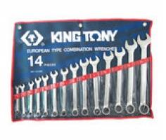 Bộ cờ lê đầu tròng, đầu mở 14 chiếc 15/16''- 1-1/4 Kingtony 1211SR