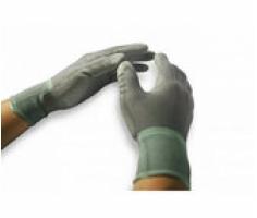Găng tay phủ PU xám chống tĩnh điện